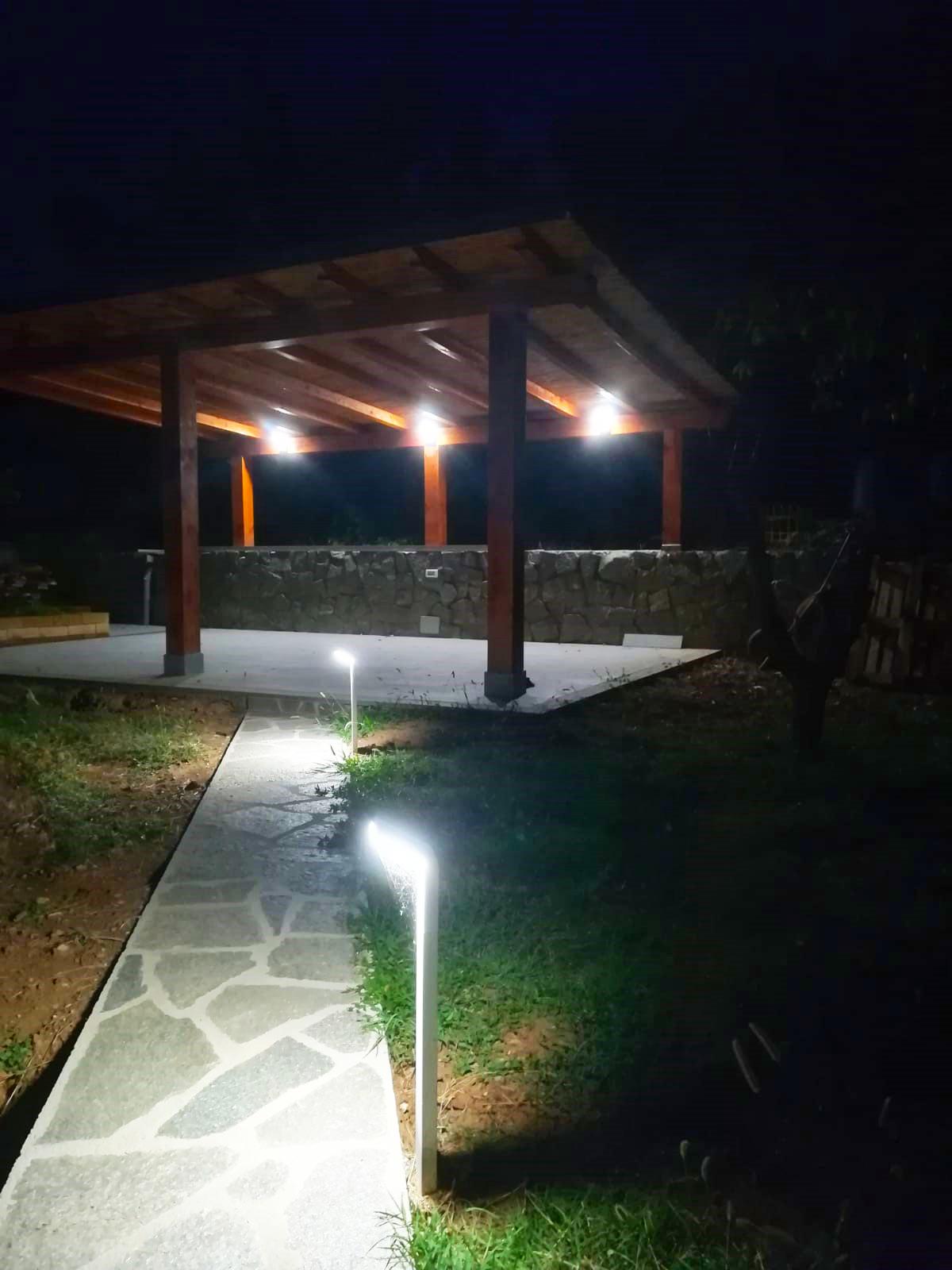 Paletti Illuminazione Esterna Led.Come Illuminare L Esterno Di Una Villa Con L Illuminazione